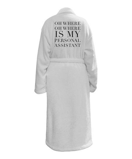 LA Trading Co  White 'Personal Assistant' Robe