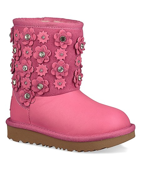 c76b4d2e3d3 UGG® Pink Azalea Classic Short II Petal Leather Boot - Kids