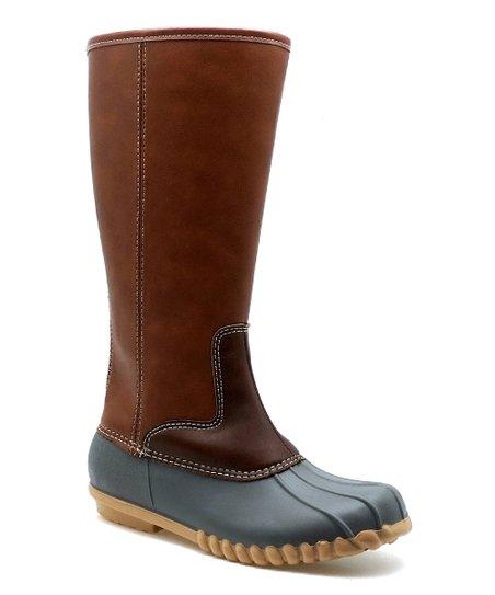 ac1e7a9b625 OUTWOODS Gray & Burgundy Autumn Duck Boot - Women