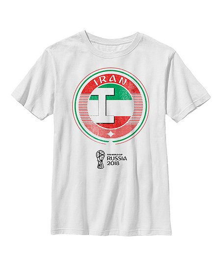4c1723ee8 love this product White 2018 Iran National Team Contrast Round Tee - Boys