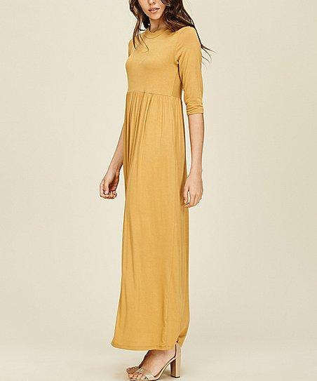 8428cfac5086 Annabelle USA Bronze Side-Pocket Maxi Dress | Zulily