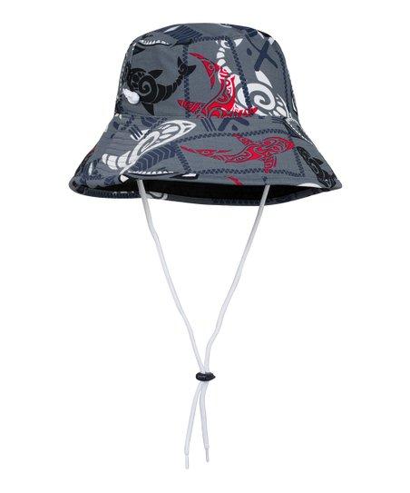 331a583aea371f Tuga Sunwear Falcon Gray Shark Reversible Bucket Hat | Zulily