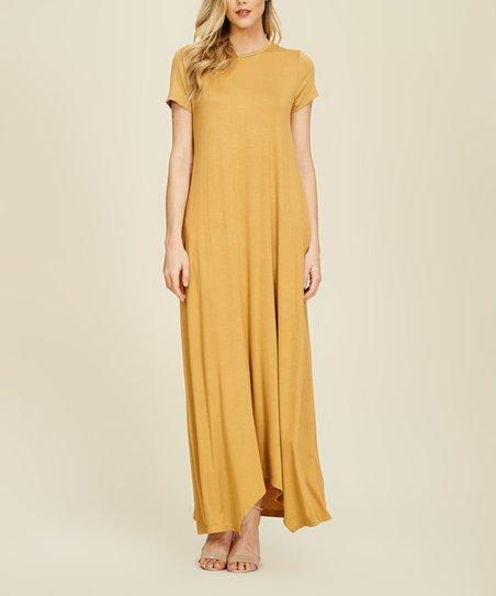 419e19fd06f9 Annabelle USA Bronze Pocket Maxi Dress | zulily