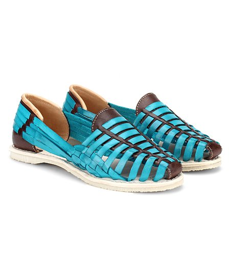 4c72673f29c7 love this product Turquoise Catrinas Leather Huaraches Sandal - Women