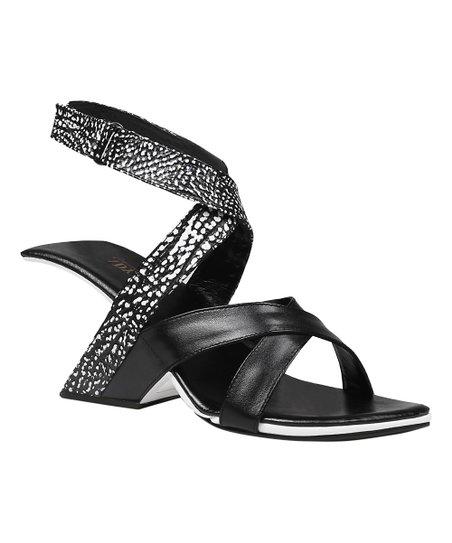 78b041b919d Jady Rose Black Drop-Heel Gladiator Leather Sandal - Women