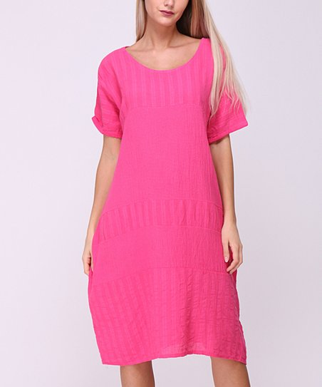 Lacony Fuchsia T Shirt Dress Women Zulily