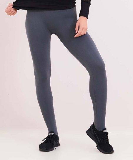 e5622c213fad57 Reborn Collection Charcoal Seamless Stirrup Leggings - Women | Zulily