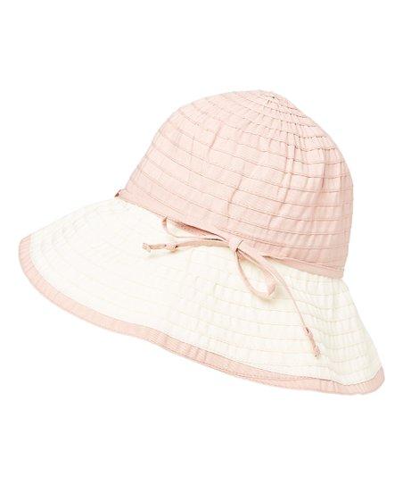 7179ffe6263 DNMC Pink   White Bow-Accent UPF 50+ Bucket Hat