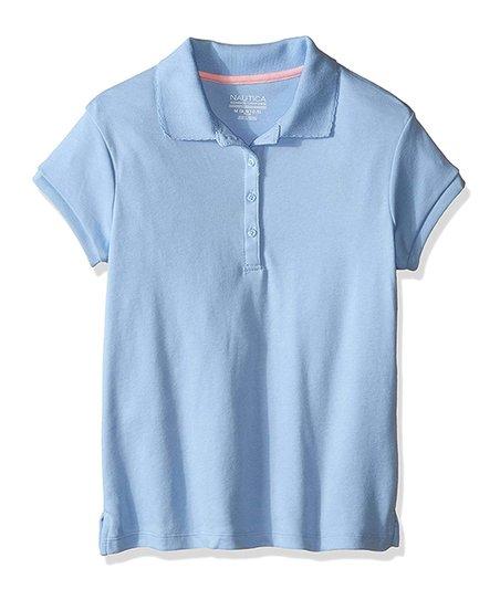 4e72293edf1 love this product Light Blue Picot Collar Polo - Girls   Girls  Plus