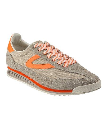 Orange Rawlins Suede Sneaker - Men
