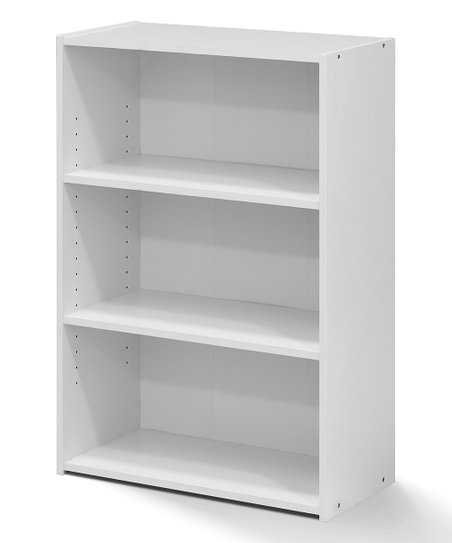 size 40 c3e54 ba829 Furinno Soft White Three-Shelf Bookcase | Zulily