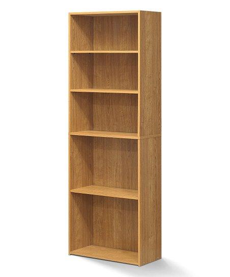 Furinno Highland Oak Five Shelf Bookcase Zulily