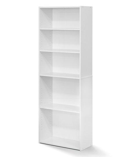 Furinno Soft White Five Shelf Bookcase Zulily