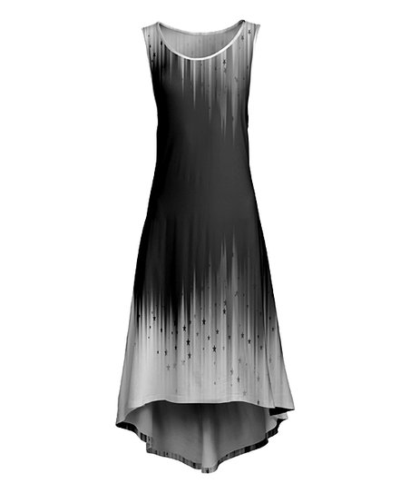 Lily Black White Ombre Sleeveless Maxi Dress Plus Zulily