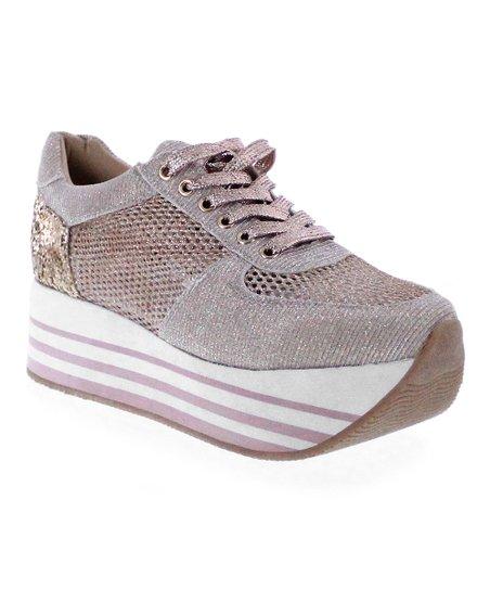 aaa35e4b57 MAKERS SHOES Rose Gold Yasmin Platform Sneaker - Women | Zulily