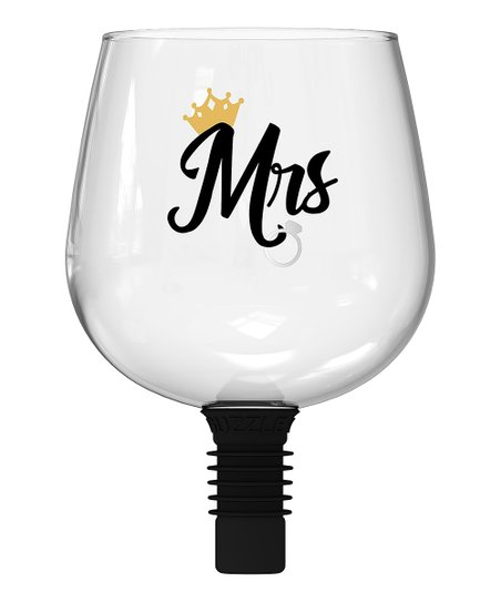 Guzzle Buddy 'Mrs ' Wine Bottle Glass