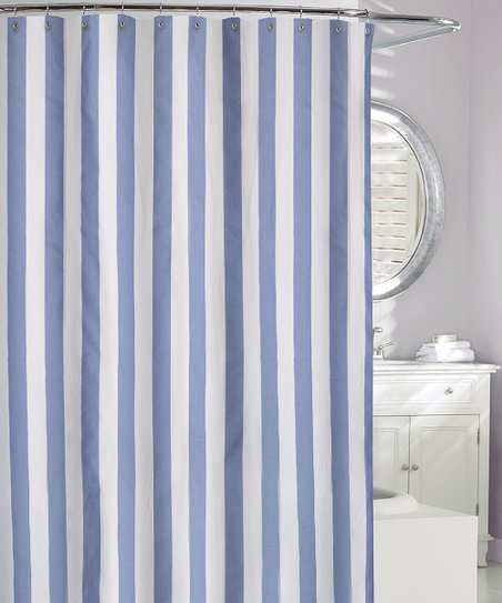 Denim Stripe Shower Curtain