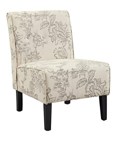 Awesome Linon Home Gray Toile Coco Accent Chair Creativecarmelina Interior Chair Design Creativecarmelinacom