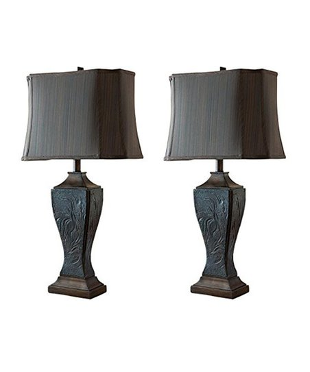 Pilaster Designs Engraved Table Lamp Set Of Two Zulily
