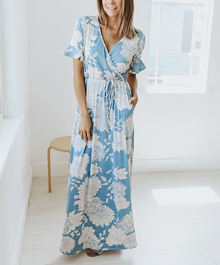 eedc3ef5183 love this product Sky Blue Floral Magnolia Maxi Dress - Women