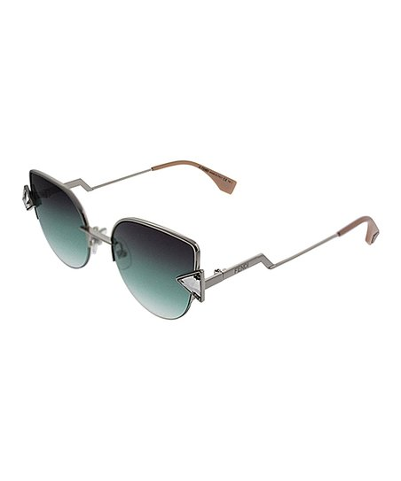 love this product Silvertone   Green Gradient Embellished Cat-Eye Sunglasses f2e1894006af