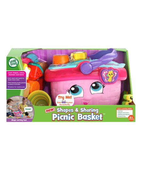 Leapfrog Pink Purple Shapes Sharing Picnic Basket Zulily