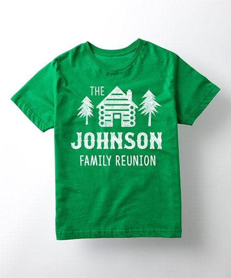 20bd1a549 love this product Kelly Green 'Family Reunion' Personalized Tee - Toddler &  Kids