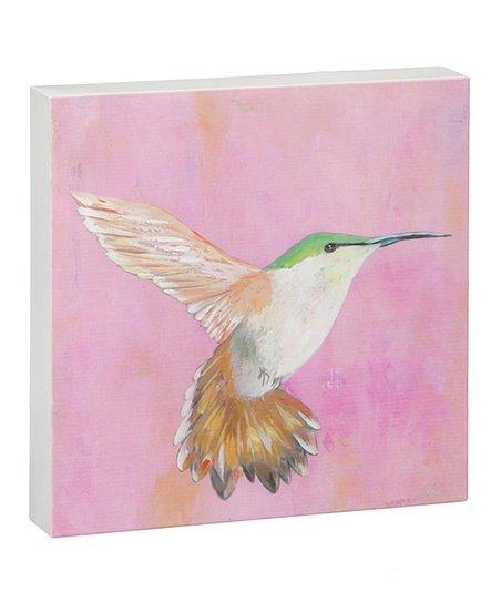 Pink Sweet Hummingbird Outdoor Metal Wall Art