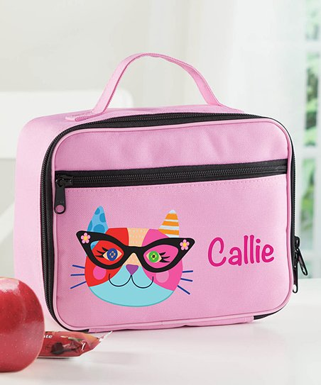 Personalized Planet Hipster Cat Personalized Lunch Bag