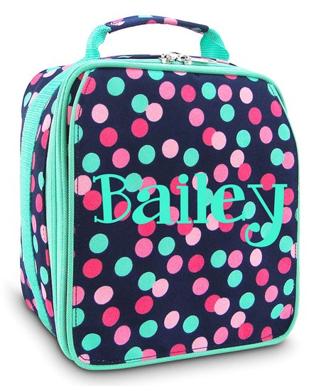 Three Ps In A Pod Polka Dot Personalized Lunch Box