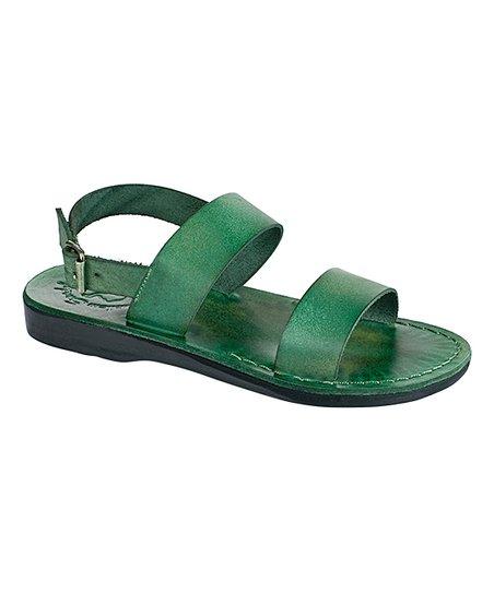 49f2b60b4df8 Jerusalem Sandals Green Golan Leather Sandal - Women