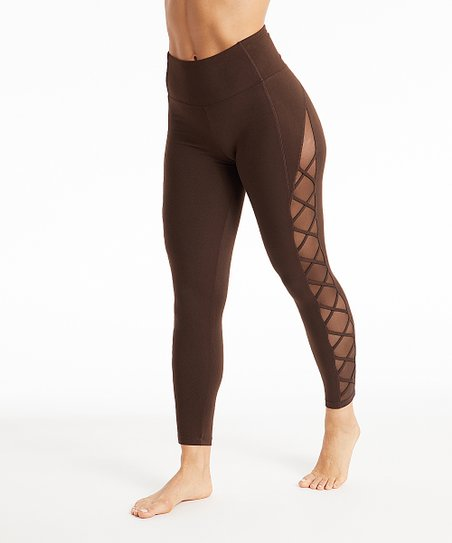 0a9ad855bf72 Marika Sport Chocolate Lattice High-Waist Leggings - Women
