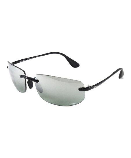 187eca09bde4d love this product Shiny Black Sport Sunglasses - Unisex