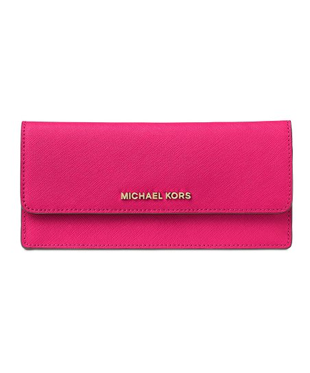 976beb6b806b5 love this product Ultra Pink Jet Set Saffiano Leather Wallet
