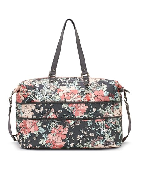 aa04cee0e5d4 Sakroots Charcoal Floral Artist Circle Duffel
