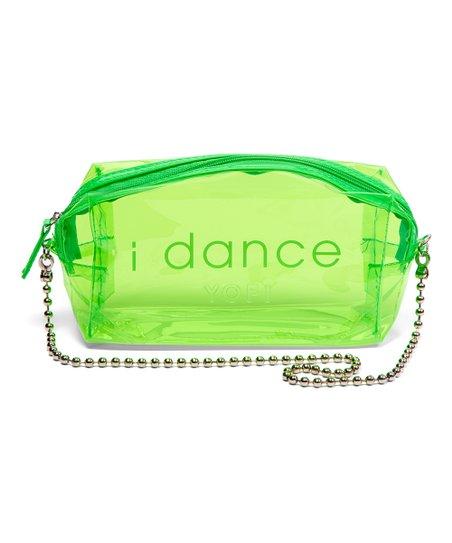 Yofi Cosmetics Neon Green I Dance Clear Cosmetic Bag Zulily