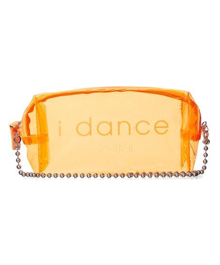 Yofi Cosmetics Neon Orange I Dance Clear Cosmetic Bag Zulily