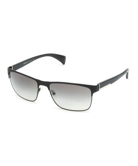 087660237b8 Prada Black   Gray Gradient Square Oversize Sunglasses