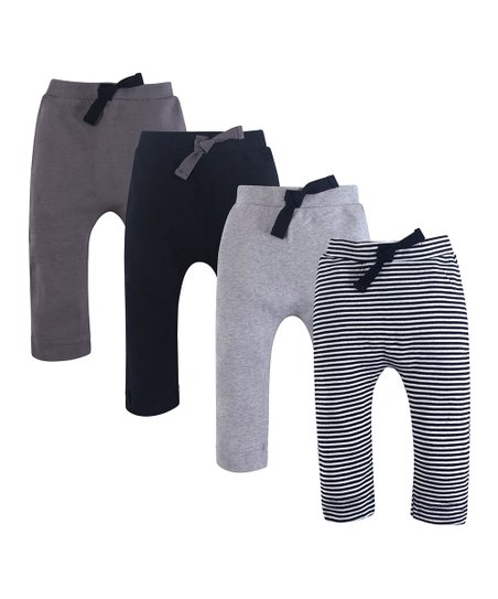 d22af343f Touched by Nature Black & Gray Four-Pair Organic Cotton Joggers Set ...