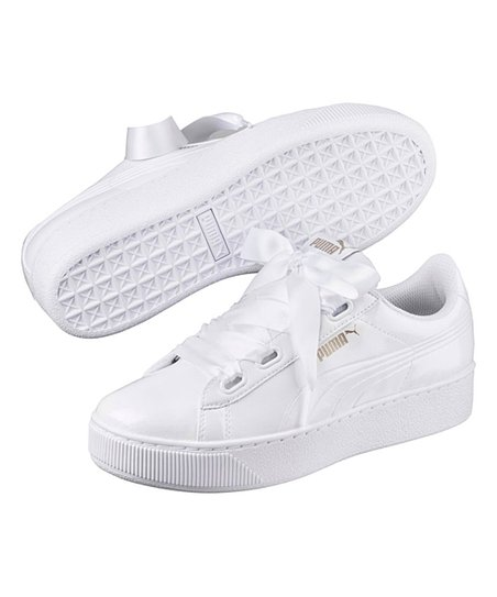 0e9231cb4ca6c5 love this product White Vikky Ribbon-Lace Suede Platform Sneaker - Women