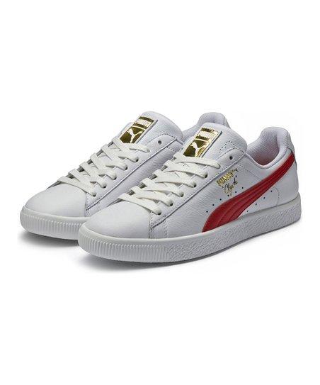 competitive price 26370 53ad8 PUMA White & Barbados Clyde Core L Foil Sneaker - Men | Zulily
