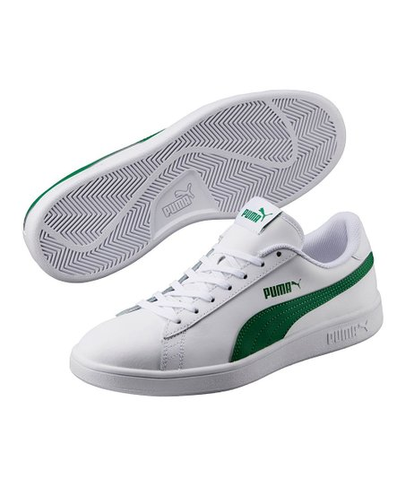 green and white puma sneakers