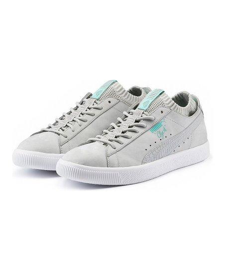 01d0d93b5c3 PUMA Glacier Gray Clyde Sock Lo Diamond Sneaker - Men
