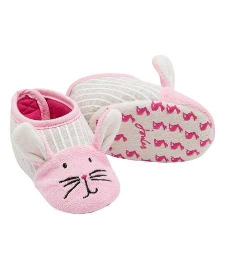 b0788fdf2bb love this product Pink   Gray Squeaker Bunny Slippers - Girls