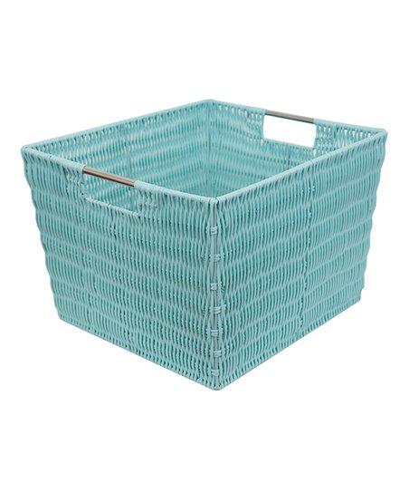 Home Basics Turquoise Extra Large Storage Basket