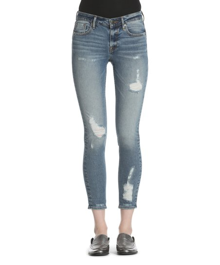 53aed596642 love this product Medium Wash Jagger Destructed Classic Skinny Jeans - Women