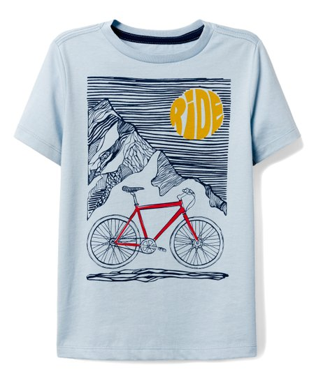 ebf592e02 love this product Sky Blue Bicycle Night Ride Graphic Tee - Boys