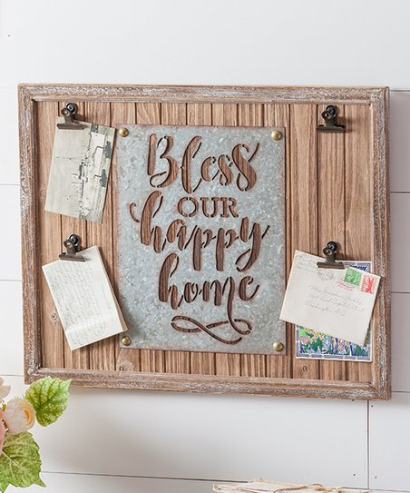 Evergreen Bless Our Happy Home Metal Wall Sign Best Price And Reviews Zulily