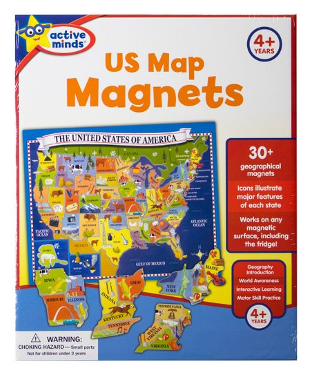 United States Map Magnets.Phoenix International Active Minds Us Map Magnets Puzzle Zulily