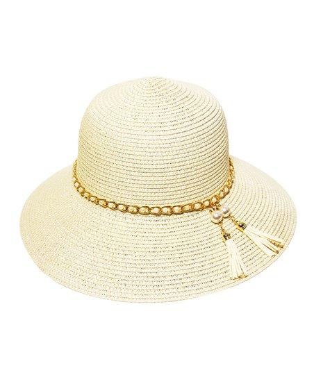 CoG Cream Chain-Accent Bucket Hat  e9c6bb1ae39
